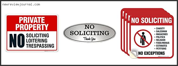 Best No Soliciting Sign Ever