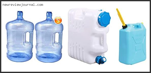 Best 5 Gallon Water Container