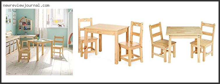 10 Best Solid Wood Kids Table And Chairs Based On Customer Ratings