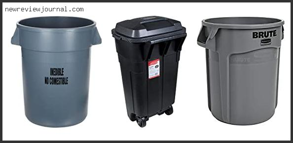 Rubbermaid Trash Can With Wheeled