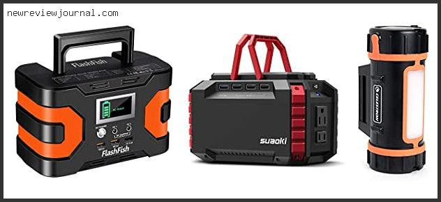10 Best Rechargeable Power Supply For Camping Based On User Rating