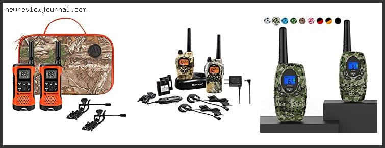 Top 10 Best Walkie Talkie For Hunting Reviews With Products List