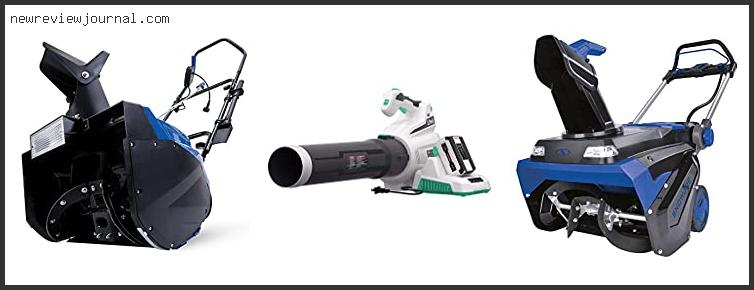 Buying Guide For Best Battery Powered Snow Blower Based On Customer Ratings